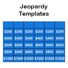 Host your very own Jeopardy game using these free Jeopardy templates. Create your own jeopardy game questions. Jeopardy For Kids, Make Your Own Jeopardy, Make Your Own Game, How To Make, Free Printables, Projects To Try, Ads, Templates