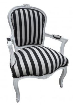 Black and White Chair with White Frame | Chairs and Seating | Reed Interiors Furniture