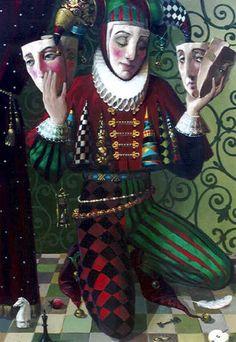 Harlequin Masks Victor Nizovtsev