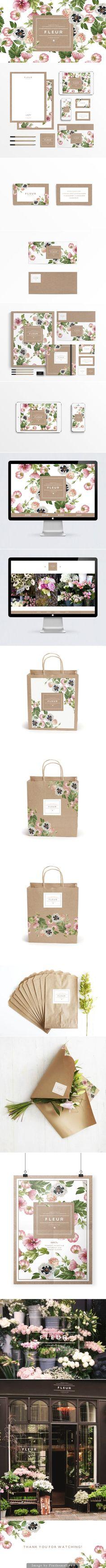 How beautiful is Fleur #identity #packaging #branding curated by Packaging Diva PD created via https://www.behance.net/gallery/15892001/F-L-E-U-R: