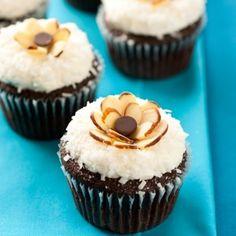 Chocolate Cupcakes with Coconut Frosting {Almond Joy Cupcakes} Recipe - ZipList