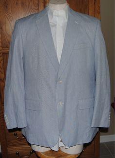 Haspel - Blue/White Seersucker Sport Coat