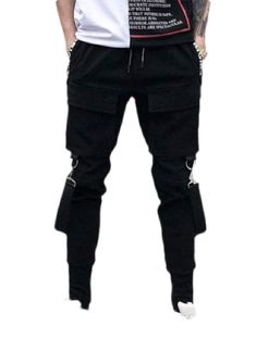 Wofupowga Mens Straight Leg Casual Business Flat-Front Formal Big and Tall Solid Color Pants