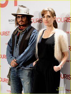 Angelina Jolie & Johnny Depp Make It To Madrid | angelina jolie johnny depp make madrid 06 - Photo