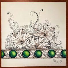 Drawings on an Opus tile.  Felt a bit extravagant addingzengems, loving the Prismacolor pencils.