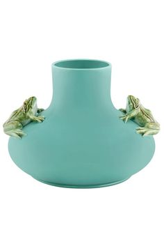 Pot with two frogs lrg by Rafael Bordalo Pinheiro