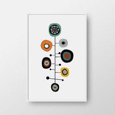 Printable Modern Mid Century Print, Mid-Century Poster, Modern Print…