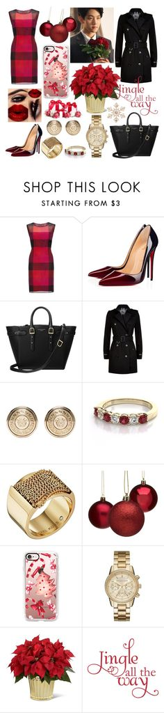 """Untitled #405"" by karla-armstrong ❤ liked on Polyvore featuring Gina Bacconi, Christian Louboutin, Aspinal of London, Burberry, Versace, Michael Kors, Casetify and John Lewis"