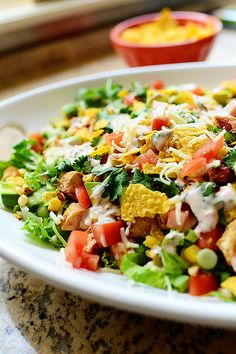 Chicken Taco Salad. Splendidly scrumptious and so darn easy.