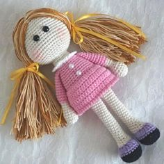 амигуруми кукла схема вязаной игрушки крючком