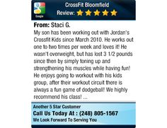 My son has been working out with Jordan's Crossfit Kids since March 2010.  He works out...