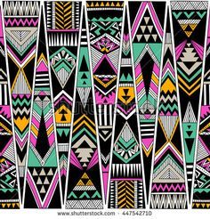 Find Multicolor Tribal Navajo Vector Seamless Pattern stock images in HD and millions of other royalty-free stock photos, illustrations and vectors in the Shutterstock collection. Thousands of new, high-quality pictures added every day. Arte Tribal, Tribal Art, Navajo, Ethnic Patterns, Print Patterns, Textile Prints, Art Prints, Abstract Geometric Art, Pattern Art