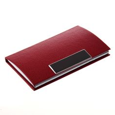 SOSW-Business Card Credit Card Holder Card Case Red #Affiliate