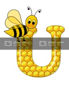 Alfabeto de abeja sobre letras de panal. - Oh my Alfabetos! Blogger Templates, Fictional Characters, Alphabet, Bee Art, Honeycomb, Bees, Lyrics, Fantasy Characters