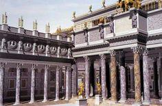 - Recreación de la Basilica Ulpia .Foro de Trajano ./tcc/