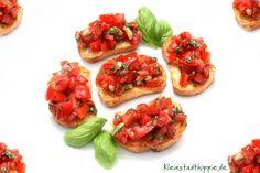 Bruschette con pomodoro e basilico