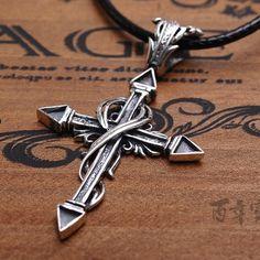 main thaïlande 925 croix pendentif en argent thai vintage en argent bijoux croix pendentif homme cadeau