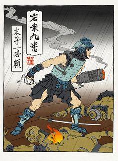 Mega Man Feudal Art via reddit user  itsIvan