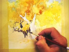 Can you identify all the places in this painting where I used negative painting to create positive and negative shapes in the foliage? Remember we only see shapes in nature… Watercolor Trees, Watercolor Landscape, Watercolour Painting, Painting & Drawing, Watercolors, Painting Trees, Watercolour Tutorials, Watercolor Techniques, Art Techniques