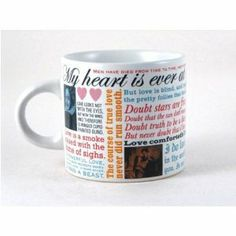 Boundless quotes of love from the Bard himself.  Shakespeare Love Quotes Mug!