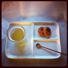 tea and mini doughnuts