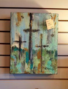 Spiritual Paintings, Christian Artwork, Cross Art, Cross Crafts, Arte Popular, Cross Paintings, Learn To Paint, Religious Art, Painting Inspiration
