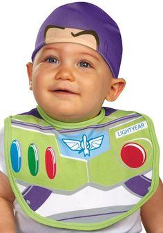 Toy Story Buzz Lightyear Bib Hat Infant Costume 80f6162c8bc5a
