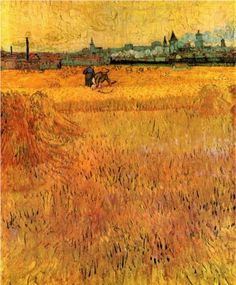 Arles View from the Wheat Fields - Vincent van Gogh
