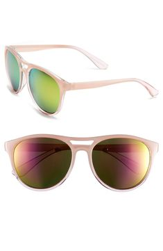 Pink retro sunglasses are a new obsession.