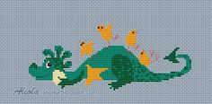 free dragon cross stitch - aliolka blog. Scroll down for this chart and others.