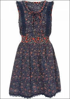 This dress with some brown boots and a little cover-up sweater for fall.  Super cute.