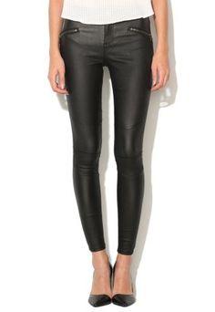 Pantaloni peliculizati dama negri skinny mulati Leather Pants, Skinny, Clothes, Fashion, Templates, Leather Jogger Pants, Outfits, Moda, Clothing