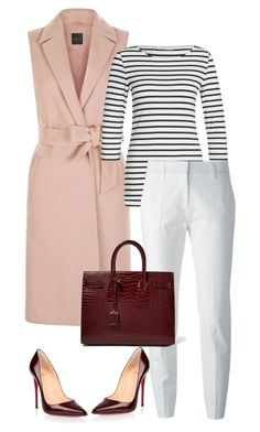 """""""Non-Boring Work Outfit 10"""" by onyxbertha on Polyvore featuring Christian Louboutin, Oui, Piazza Sempione and Yves Saint Laurent"""