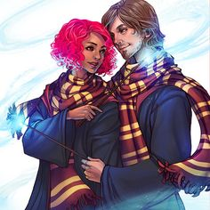 Nymphadora Tonks and Remus Lupin Harry Potter World, Fanart Harry Potter, Magia Harry Potter, Harry Potter Couples, Arte Do Harry Potter, Harry Potter Ships, Harry Potter Universal, Hogwarts, Tonks And Lupin