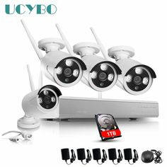 4CH Wireless WIFI IP Camera NVR Surveillance Kit 1.3MP 960P HD ONVIF P2P outdoor Waterproof Security Alarm 1080P NVR CCTV System * Find similar products on AliExpress website by clicking the image
