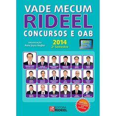 [SUBMARINO] Livro - Vade Mecum Rideel Concursos e OAB 2014: 2º Semestre - R$ 0,40