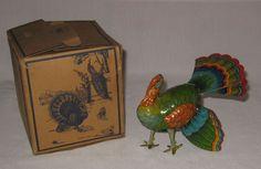 1940's US Zone Germany Wind-up Turkey Tin Litho B&S Blomer & Schuler NMIB #BP19