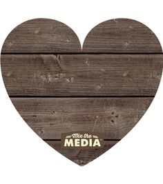 """Mix The Media Wooden Plank Plaque-Heart 11""""X9.75"""""""