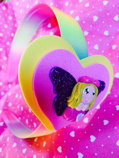 Cerchietto fata arcobaleno