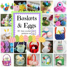 Fiber Flux: Baskets and Eggs! 20+ Free Crochet Patterns