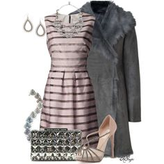 """""""Silver and Lavender for the Holidays"""" by kginger on Polyvore"""