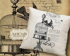 SHABBY FRENCH COTTAGE No10 - Printable Digital Sheets Iron-On-Transfer Images for tote bags t-shirts pillows, to print on fabric and paper. $4.99, via Etsy.