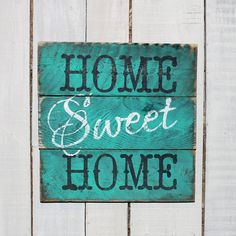 Country Pallet Sign - Home Sweet Home Hand Painted Reclaimed Pallet Wood Sign - Kitchen Sign, Country Decor