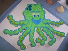 Octocake (cupcake cake) for underwater themed party!