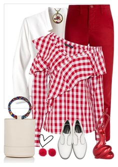 """""""Red #contest"""" by gagenna ❤ liked on Polyvore featuring The Great, W118 by Walter Baker, Alexander Wang, Simon Miller, Wild & Woolly and malenafashion27"""