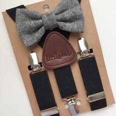 Black Suspenders w/Black Bow Tie