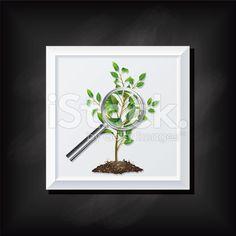 Tree Seddling On A Square Blackboard Icon royalty-free stock vector art
