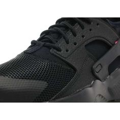 nike huarache black and pink junior