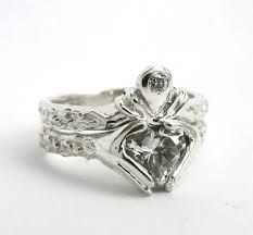 claddagh two part ring - Google Search