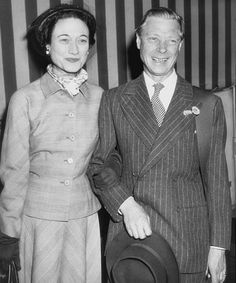 H.R.H. Prince Edward, Duke of Windsor (formally H.M. King Edward VIII) and Wallis, Duchess of Windsor (formally Wallis Simpson.)